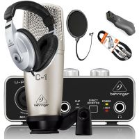Mega Kit Home Stúdio Completo Interface  Pop Filter